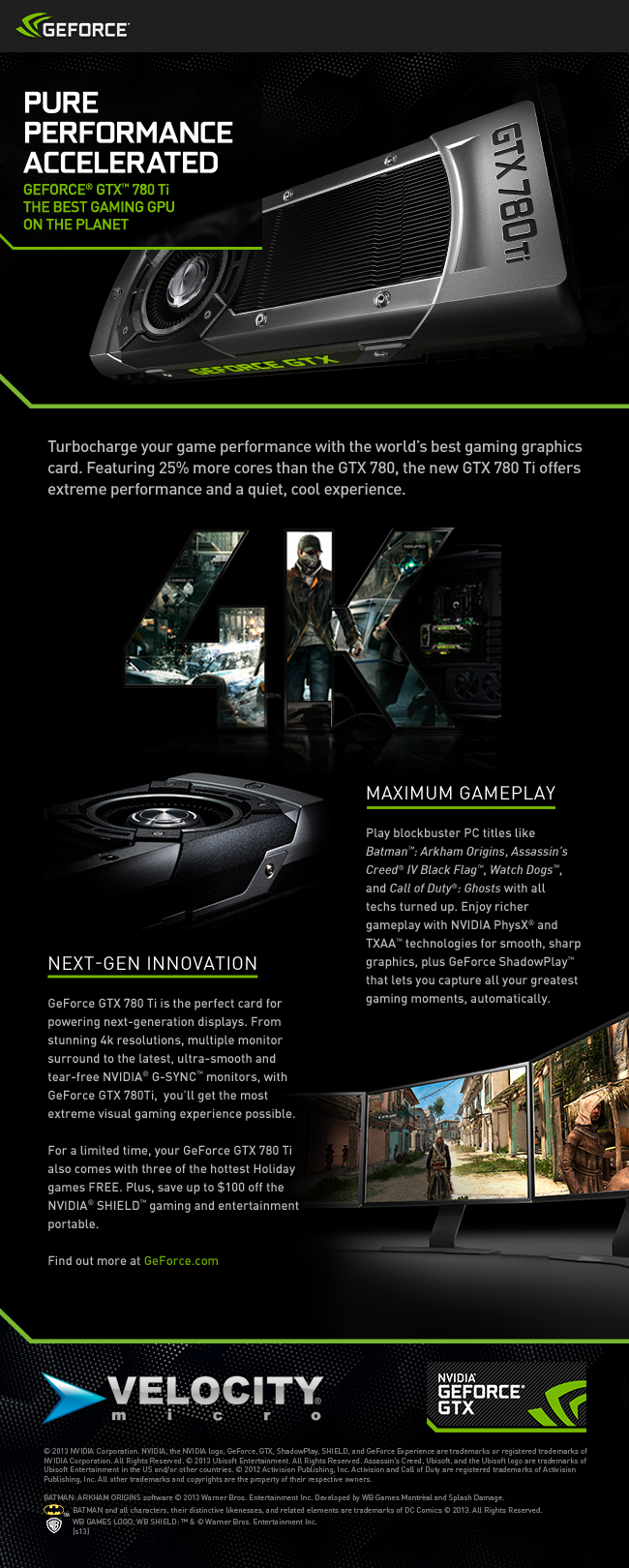GeForce GTX 780 Ti Gaming Graphics Card