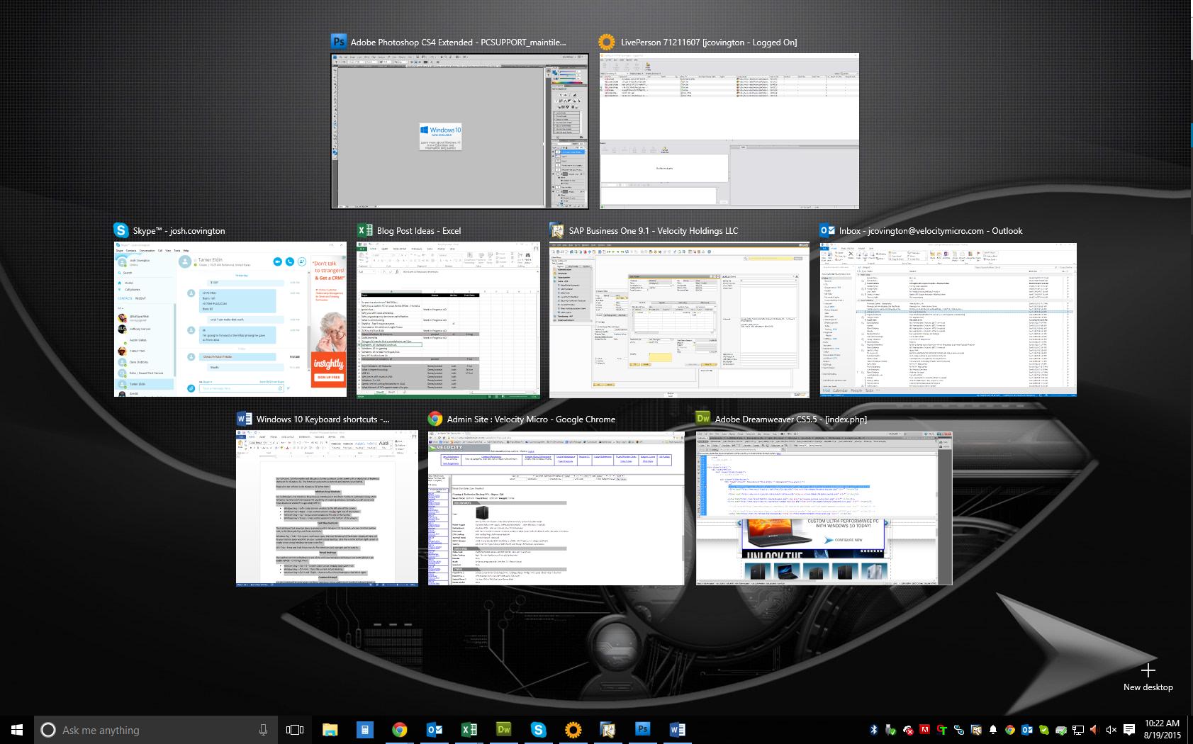 Windows 10 Keyboard Shortcuts - Custom Gaming & Enthusiast