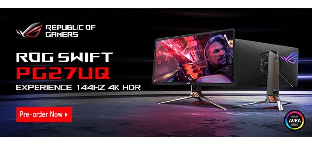 Buy Asus ROG Swift PG27UQ - Custom Gaming & Enthusiast PC Blog