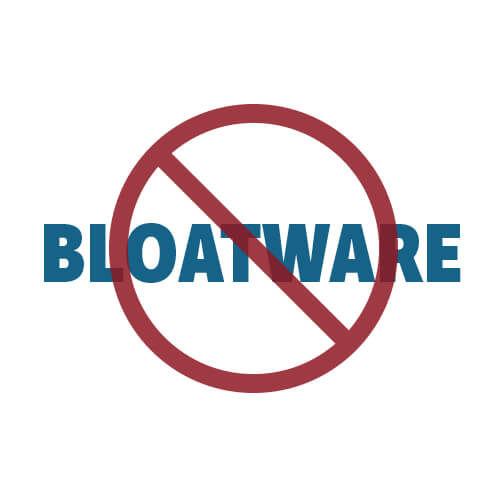 no bloatware icon