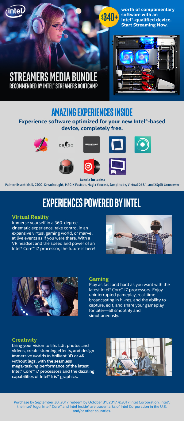 Intel Streamers Media Bundle | Velocity Micro